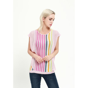 Kurzarm-Kaschmir-Seiden-Frauenpullover mit mehreren Farben