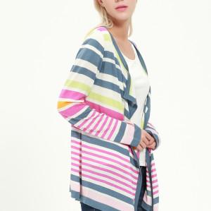 cardigan à manches longues en soie de cachemire pour femmes avec plusieurs couleurs