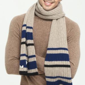 nuevo y último diseño de moda de lujo 100% pura bufanda de cachemira para hombres
