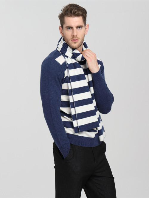 bufanda de tira larga especial 100% pura cachemira para hombres