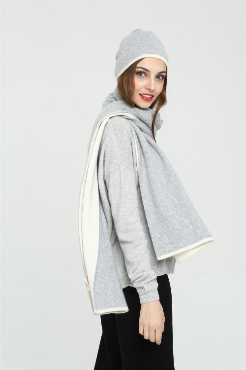 nuevo diseño de bufanda de cachemira pura para mujer con color liso