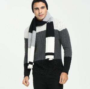 nuevo diseño 100% pura cachemira tira tejer bufanda para hombres