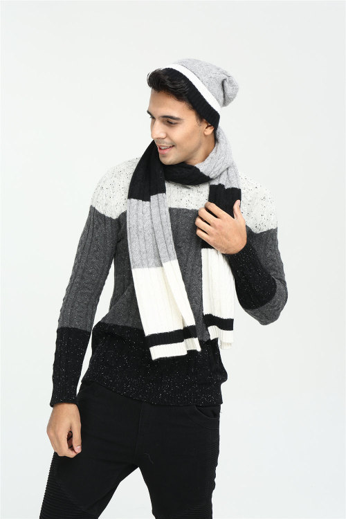 nouveau design 100% pur cachemire bande écharpe à tricoter pour hommes