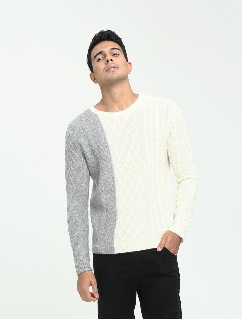 nuevo diseño 100% puro cachemir suéter para hombres