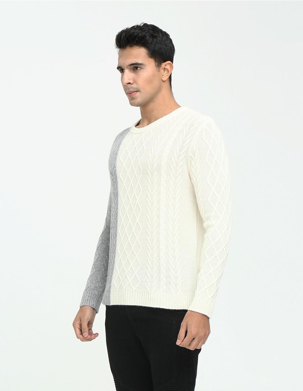 nuevo diseño 100% puro jersey de cachemir para hombres