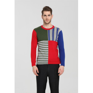 Wholesale original design high quality pure cashmere men sweater with multi colors China factory