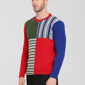 pull pour hommes en cachemire pur de mode de conception originale avec plusieurs couleurs
