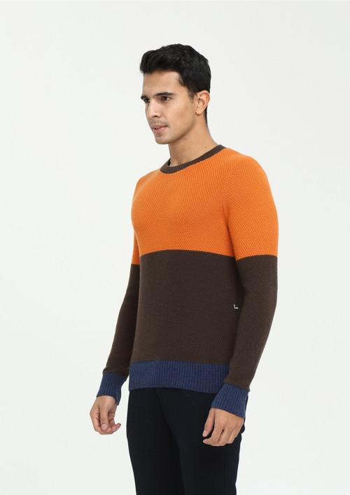 pull classique 100% pur cachemire pour homme multicolore