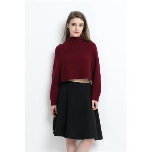 Mode 100% Kaschmir Frauenpullover mit roter Farbe