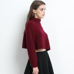 moda 100% cachemir suéter de mujer con color rojo