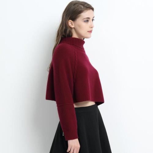 pull femme 100% cachemire de couleur rouge