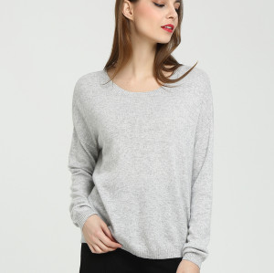 pull de femmes de cachemire de conception de mode pure avec la couleur unie