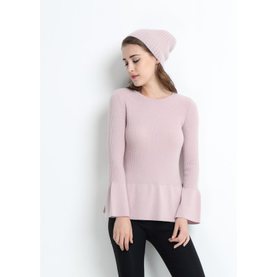 pull femme pur cachemire avec couleur rose