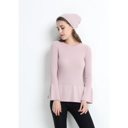 Mode reiner Kaschmir Frauenpullover mit rosa Farbe