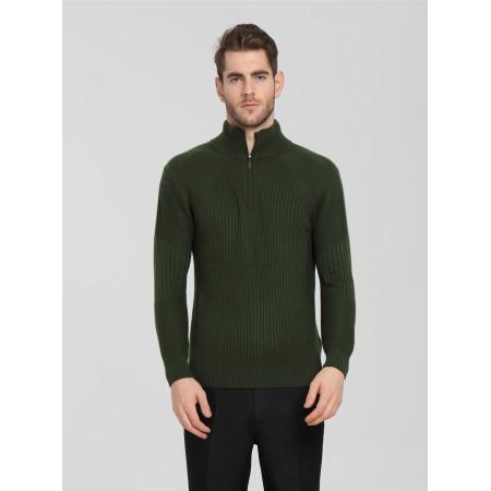 Modedesign 100% reine Kaschmir Herren Strickjacke mit grüner Farbe
