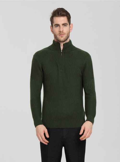 chaqueta de punto 100% pura de cachemir de diseño de moda con color verde