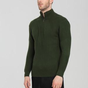 design de mode 100% pur cachemire hommes cardigan avec couleur verte