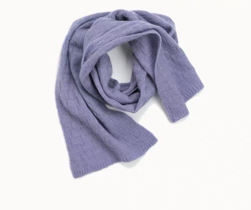 Écharpe en cachemire pur de couleur unie de Gril pour l'automne hiver