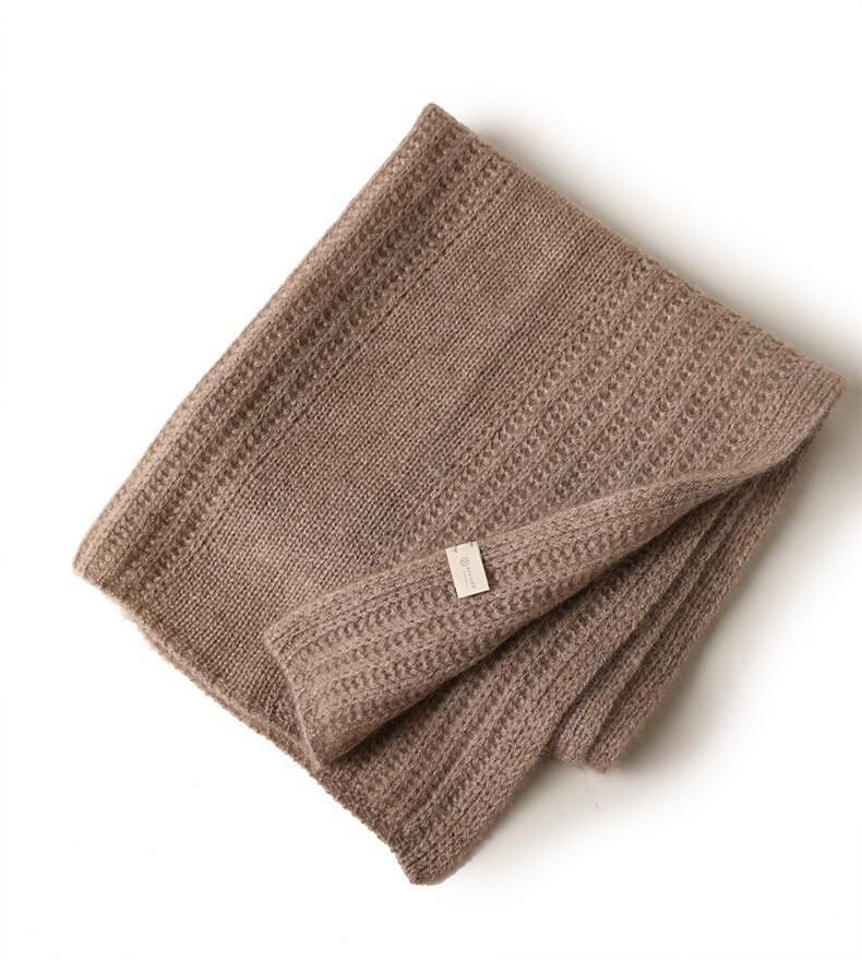 nuevo diseño 100% puro cachemir mantas de costilla de café para bebés