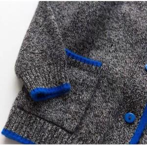 suéter tipo cardigan de cachemira para niño en varios colores con bolsillos