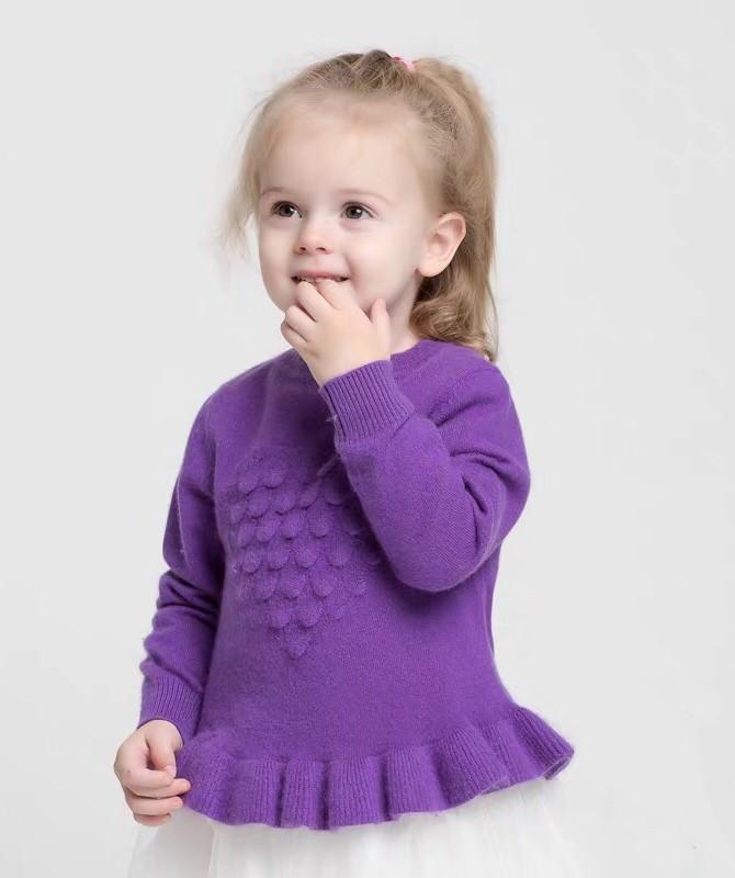 Mädchen Kaschmir spezielle Strickmuster Kleid