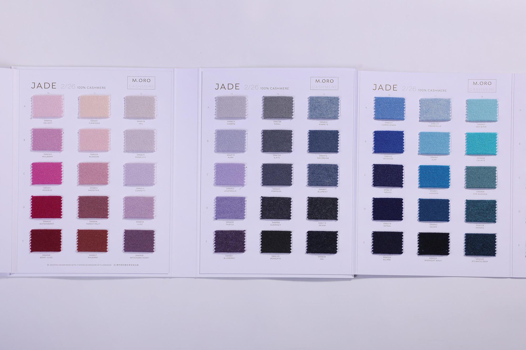 tarjetas de color de cachemir