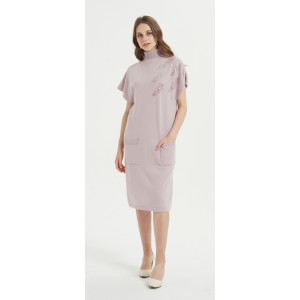 wholesale private label high quality pure cashmere dress with hand embroidery with low price
