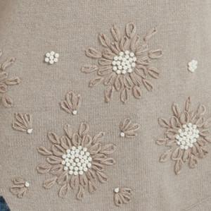 suéter de mujer de cachemir puro de nueva temporada con bordado a mano