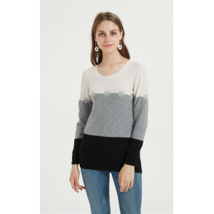 wholesale high quality women pure cashmere sweater with oem service in low price