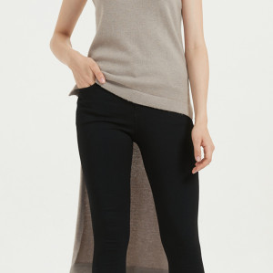 nuevo diseño de suéter de pura cachemira para mujer con bordado a mano