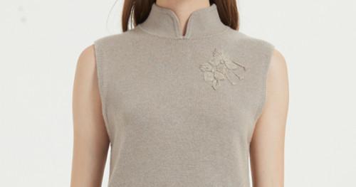 nouveau pull en cachemire pur pour femmes avec broderie à la main