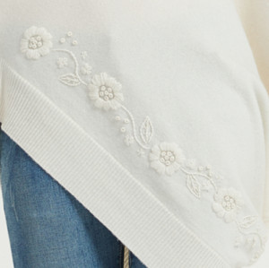 nuevo diseño poncho de cachemira pura para damas con bordado a mano