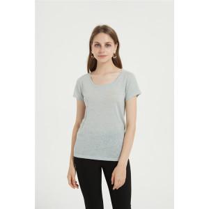 t-shirt décontracté en coton mélangé pour femme