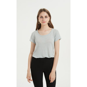 Wholesale blend women tshirt with several colors available for summer China vendor