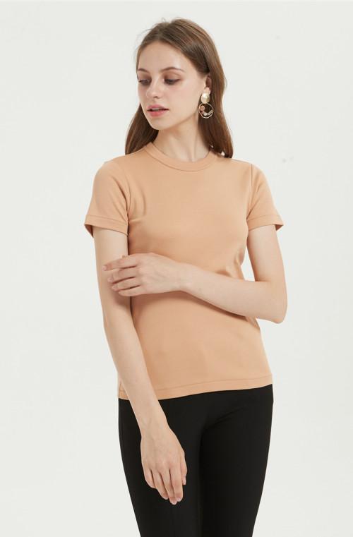 camiseta casual de mujer en mezcla de algodón con varios colores disponibles