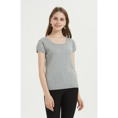 T-shirt décontracté en coton mélangé avec plusieurs couleurs disponibles