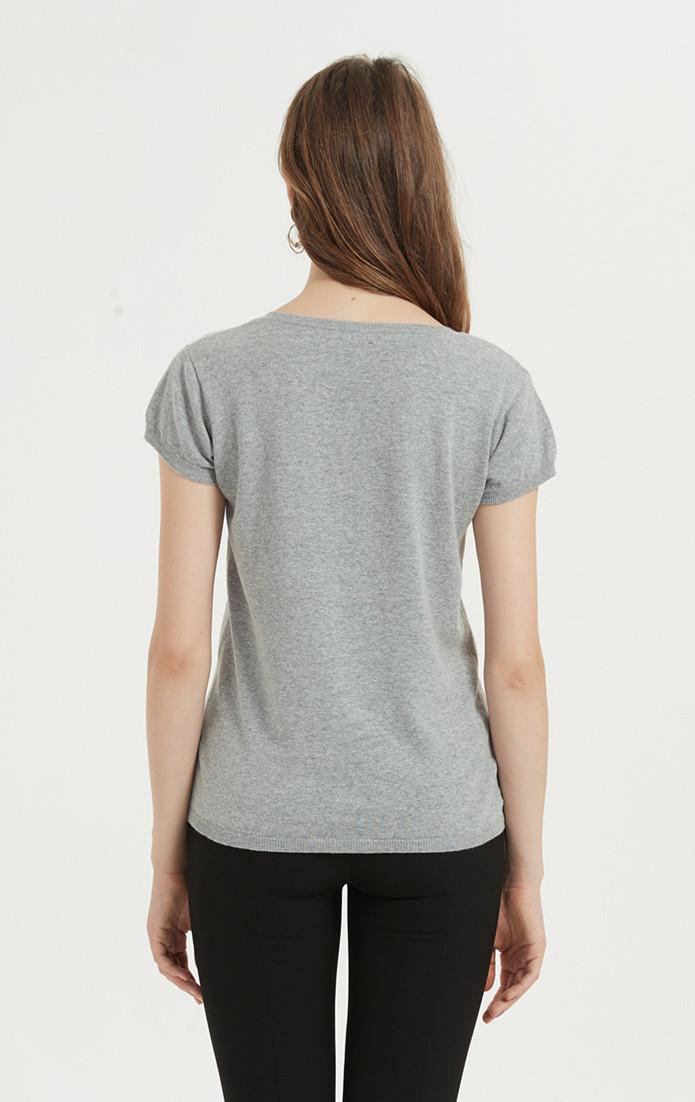 camiseta de mujer en mezcla de algodón