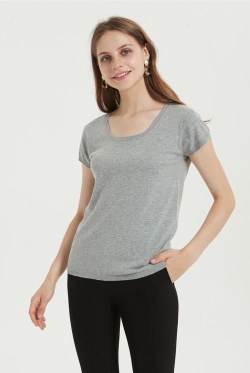 camiseta casual de mezcla de algodón con varios colores disponibles