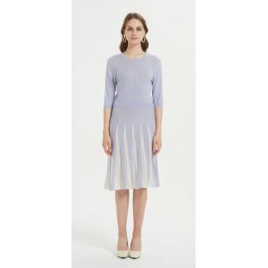 elegantes Frauenkleid aus Seidenkaschmir mit mehreren Farben