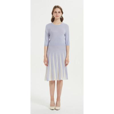 elegante vestido de mujer de cachemir de seda con varios colores