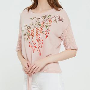 nuevo diseño de suéter de pura cachemira para mujer con dibujado a mano