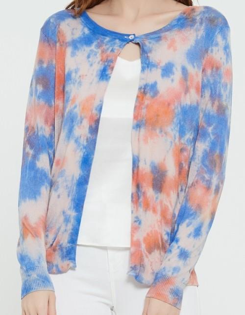 diseño de moda suéter de cachemira pura para mujer con estampado tie dye