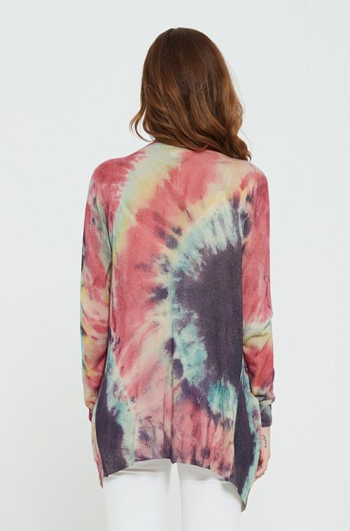 jersey de pura cachemira para mujer con estampado tie dye para primavera