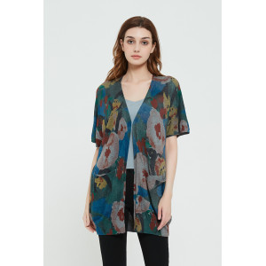 High quality wholesale women latest Active digital printing silk cashmere sweater in cheap price
