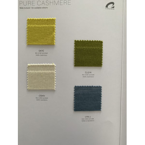 Ewsca cashmere blend colors cards with all materials for spring