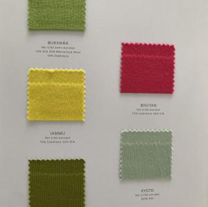 Tarjetas de colores de mezcla de cachemira Ewsca con todos los materiales para la primavera