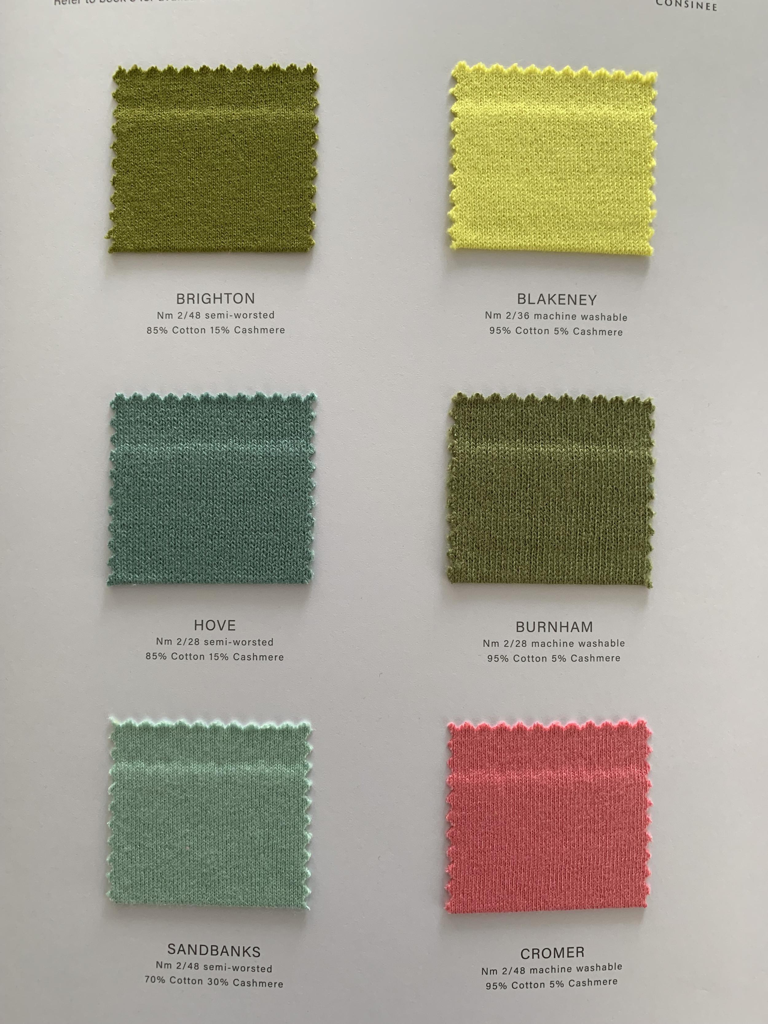 Cartes de couleurs de mélange de cachemire printanier Ewsca avec tous les matériaux