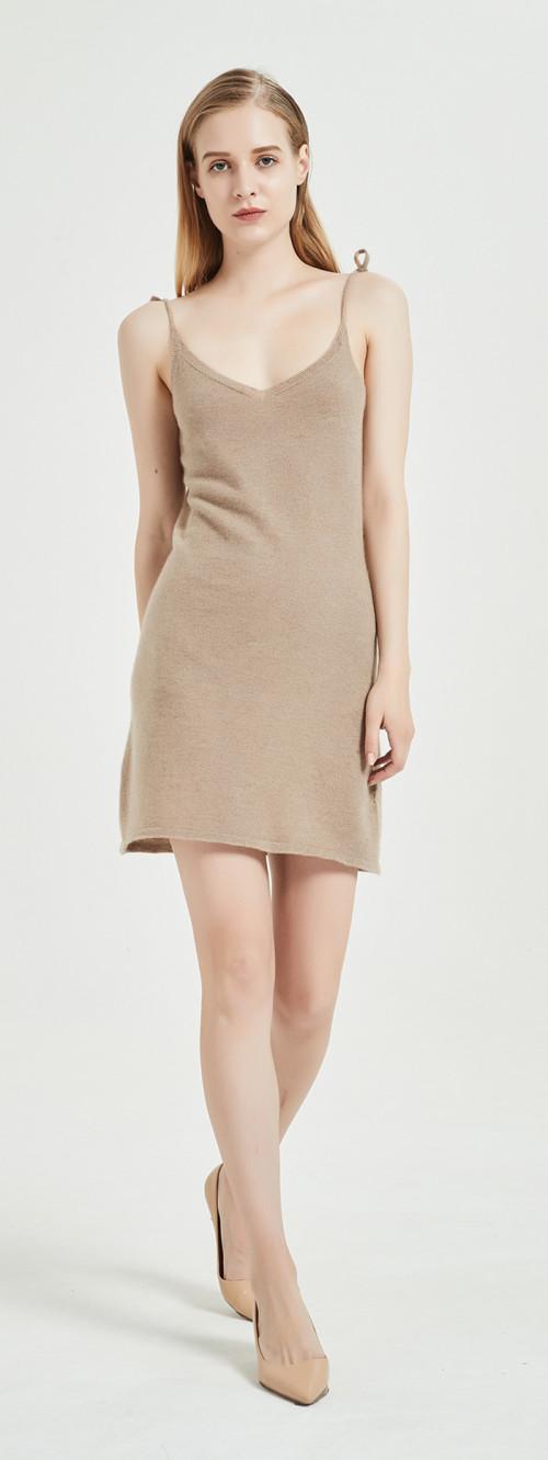 vestido de mujer de cachemira pura, ligera y suave con color liso