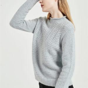 bonito suéter de pura cachemira para mujer con tecnología sin costuras