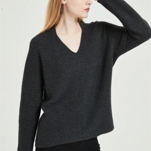 nuevo diseño de suéter de mujer de cachemira pura con tecnología perfecta